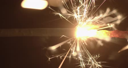 megolvad : Slow motion footage of sparkler in the dark
