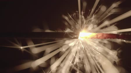 fuse : Slow motion footage of sparkler in the dark