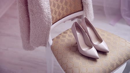 elegancia : Beautiful bridal shoes in sunlight