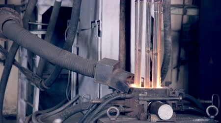 open hearth : Metal production on metallurgy factory. Stock Footage