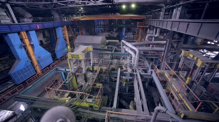 industry : Industrial interior of a huge plant building. Inside view.