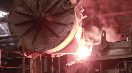 open hearth : Metallurgical works, molten metall production at foundry factory.