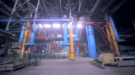 industry : Giant industrial factory. Indoors. Stock Footage