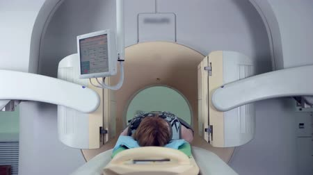 tomograph : Human scan in a tomograph. Modern medical equipment.