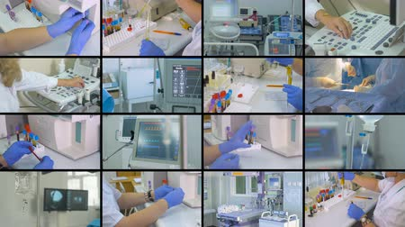 operasyon : Laboratory, surgery, medical equipment collage. Medicine concept.