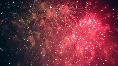 lentejoula : Lots of winking fireworks are shooted continuously. Stock Footage