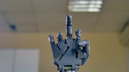 nerve : Precise movements of electric robotic arm. 4K. Stock Footage