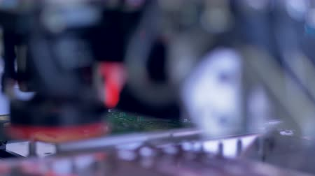 integrado : Manufacture of electronic chips. Close up.