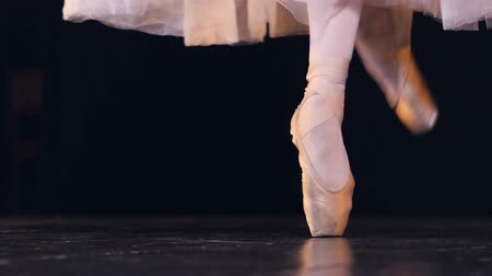 тапки : A ballet dancer shows off her pointe technique.