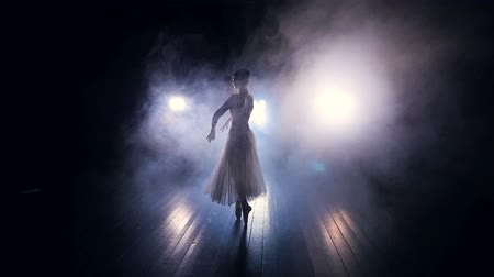 тапочка : A thick fog surrounds a dancing ballerina.
