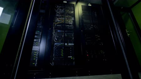 güvenlik duvarı : Modern datacenter. Cloud computing concept. Servers racks in data center room.