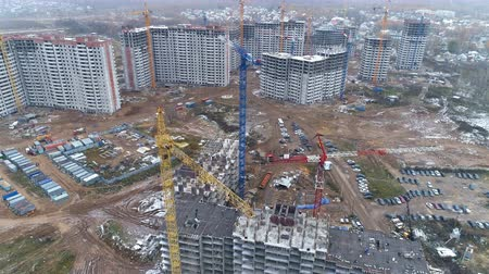 estate agency : A top view on a large construction site.
