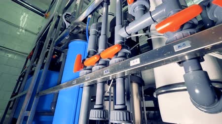 хранилище : Plastic pipes at the factory. Water treatment plant.