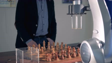 the conception : New game between robot and chess player.