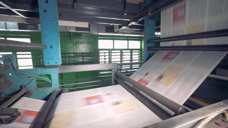 election campaign : Newspapers Printing equipment. 4K.