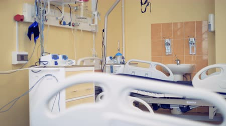 reanimation : Special equipment for patients in a ICU room.