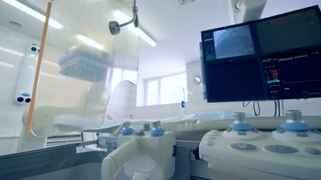 surgery theatre : New medical devices at a hospital, close up.