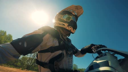 eşofman : Professional Motocross Motorcycle Rider. HD.