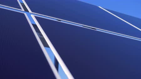 producing energy : Alternative energy concept. Flat surface of a solar array in a close up.