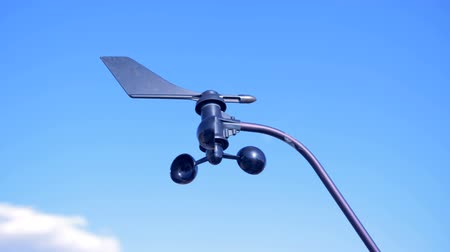 meteorological : Functioning wind turbine of a solar battery
