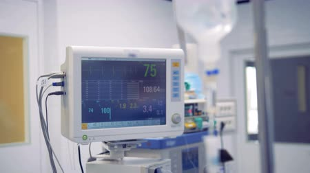 vital signs : Drip bulb and a medical monitor with vital signs