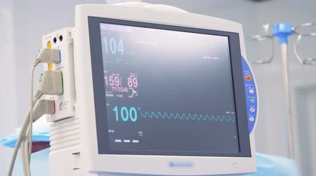 vital signs : Display of vital signs and cardiogram on a monitor