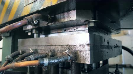 accumulation : Detailed view of an industrial mechanism in a close up Stock Footage