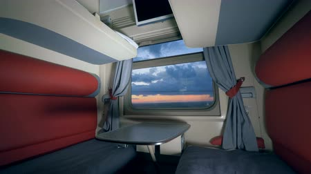 двухместная карета : Fast train with luxury compartment, close up. Travel, transport concept.