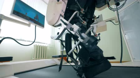 paralympics : Modern medical rehabilitation device at a hospital, close up. Stock Footage