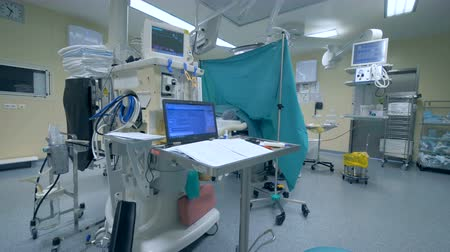 ecg : Surgery room with equipment. Stock Footage