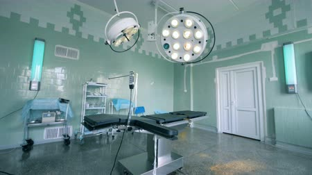 neonatology : Wide angle view of a delivery room in a hospital