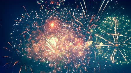 firecrackers : Night sky is getting radiated by multicoloured fireworks