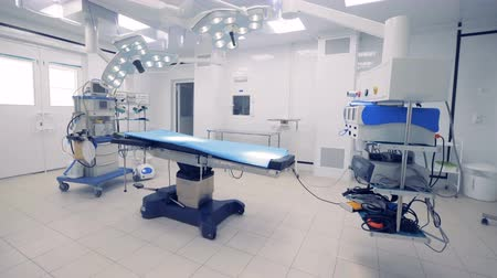 intensive care unit : General view of a fully-equipped surgical room. Medical technology concept.