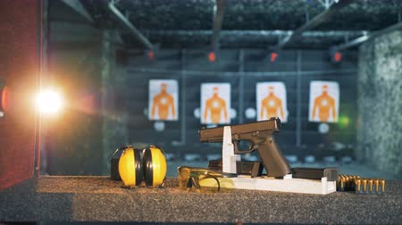amendment : Shooting supplies prepared for practice in firing range