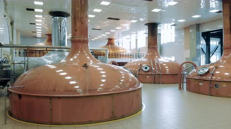 dourado : Massive copper reservoirs located in a brewery Vídeos