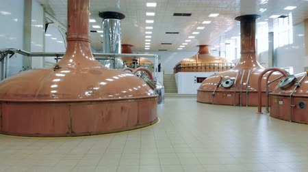 microbrewery : Distillery unit with multiple brewing cisterns