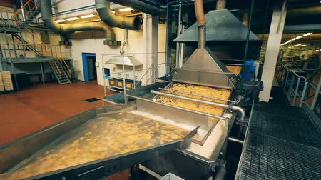 tayın : Massive factory machine is relocating and processing crisps