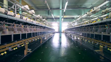 poliester : Garment plant with spools and special equipment