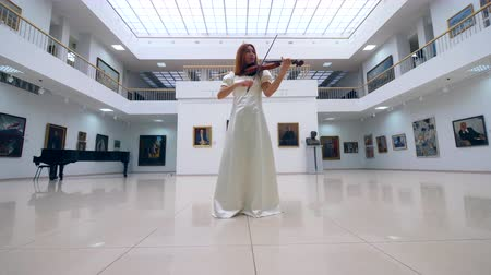 houslista : Art museum and a lovely lady playing the violin Dostupné videozáznamy