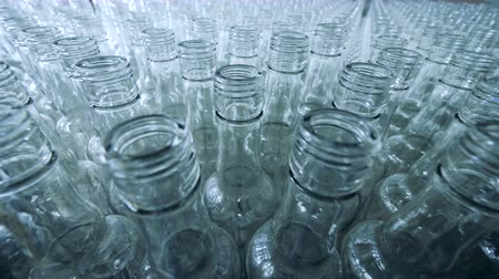 unfilled : Plenty of empty glass bottles in a distillery unit