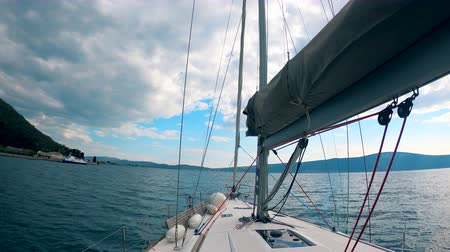 First-person view from a sailing boat