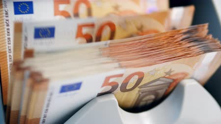 Counting mechanism is processing euros