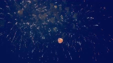 glorious : Fireworks are exploding in the night sky