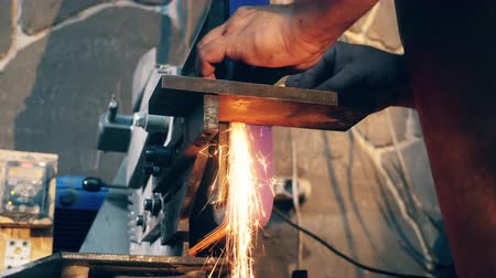 smithy : Welding process carried out with sparks