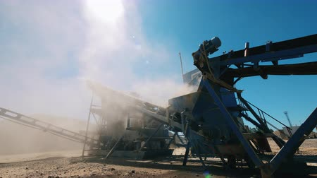 備品 : Metal equipment at the gravel mining site 動画素材