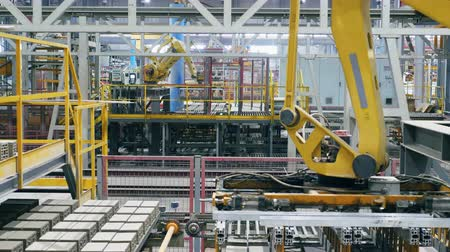 mechanically : Factory equipment works at modern factory facility