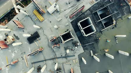inacabado : Top view of a concrete construction site