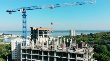 кирпичная кладка : Construction site with multistory buildings in progress