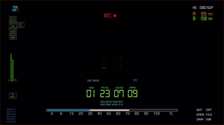 timecode : Camcorder viewfinder with alpha channel Stock Footage