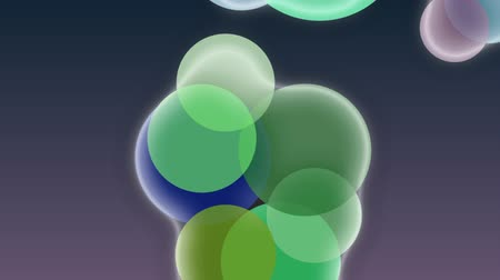 zaoblený : Bubbles animation  Background animation with colorful circles falling down on a dark backgroundclean dark background